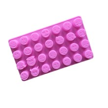28 Even QQ Expression Silicone Chocolate Mold Silicone Ice Lattice Mold Silica Gel DIY Baking Mold Aromatherapy Jelly MoldB096