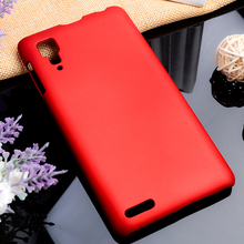 Oil-coated Phone Covers Cases For Lenovo P780 5 Inch P 780 Cases Matte Hard Plastic Protective Durable Housing Hood Back Covers