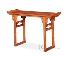 Chinese Traditional Redwood Furniture Cross Opening Light Head Desk Ming&Qing With Top Flanges Burma Rosewood Low Console Table(China)