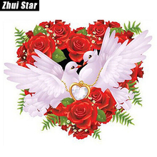 "Hot 5D DIY Diamond Painting ""White pigeons"" Embroidery Full Square Diamond Cross Stitch Rhinestone Mosaic Painting wedding Decor"
