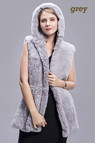 rex rabbit fur vest color 1