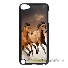 back shell skins cellphone case cover for iphone 4 4s 5 5s 5c SE 6 6s 7 plus ipod touch 4/5/6 Running Horse Design(China)