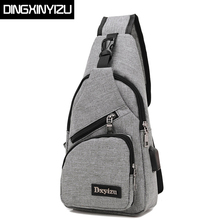 DINGXINYIZU Brand Canvas Men Chest Pack Crossbody Bag Casual Travel Rucksack Chest Bag Small Sling Bags Women Shoulder Back Pack