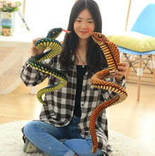 1m simulation snake plush toy, snake stuffed doll, creative funny gift for friend, crazy scary stuffed plush toy(China)