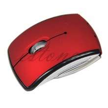 New Foldable Wireless Arc Optical Mouse Mice USB Receiver For Pad PC Laptop Notebook Computer 6 Color GAF5 Ultrathin 2.4GHz(China)