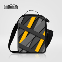 Dispalang Striped Stacked Kids Cooler Lunch Bag Insulated Waterproof Lunch Carry Storage Picnic Bag Men Mini Thermal Bag Termica