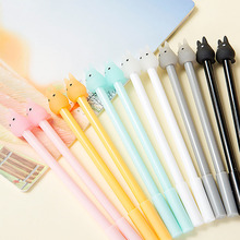 1 Pcs 0.38mm Cartoon Kawaii Rabbit Plastic Gel Pen Cute Candy Color Pens For Kids Gift Korean Stationery Free Shipping 2494(China)