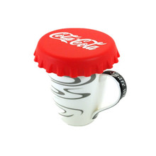 Silicone Figure Airtight Cup / Mug Lid Cover (RED)