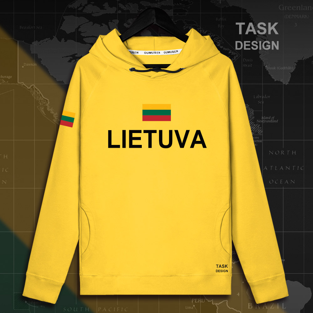 Lithuania Lithuanian LTU Lietuva Lietuvos men hoodie pullovers hoodies men sweatshirt new streetwear clothing Sportswear tracks 14