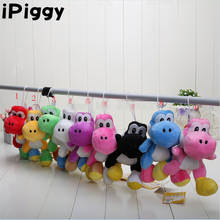 "10pcs/lot Free shipping  Super Mario yoshi Plush Doll Toys With Sucker 9 colors 8"" (18cm)"