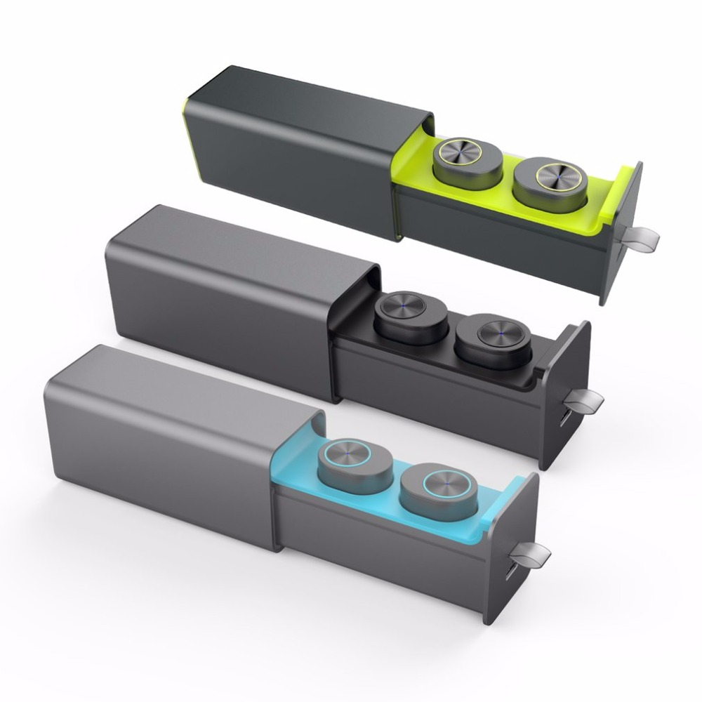 QP-W10 Bluetooth V4.2 Twins True Wireless In-ear Earphones One key control Earbuds Magnetic Charger Box Perfect Combination<br>