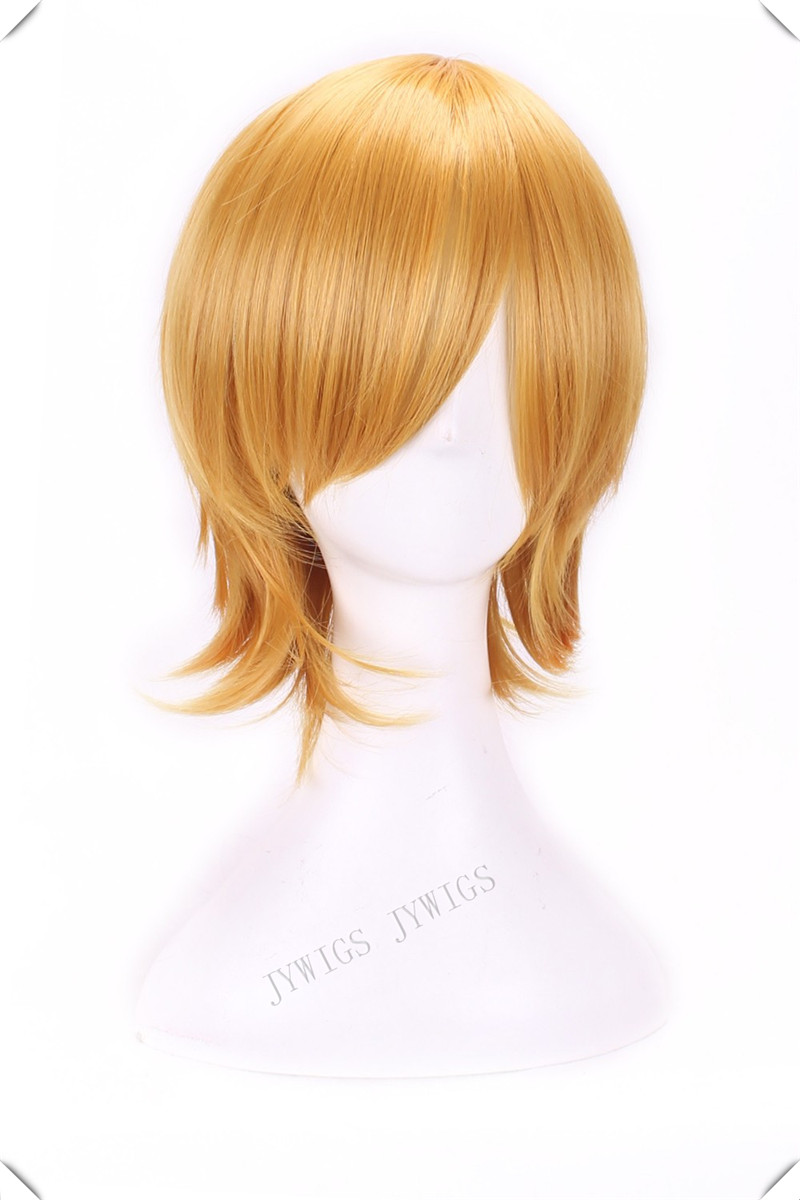 Golden Blonde Wig Harajuku Anime Wig Cosplay Short Bob Wavy Heat Resistant Golden Blonde Wig<br><br>Aliexpress
