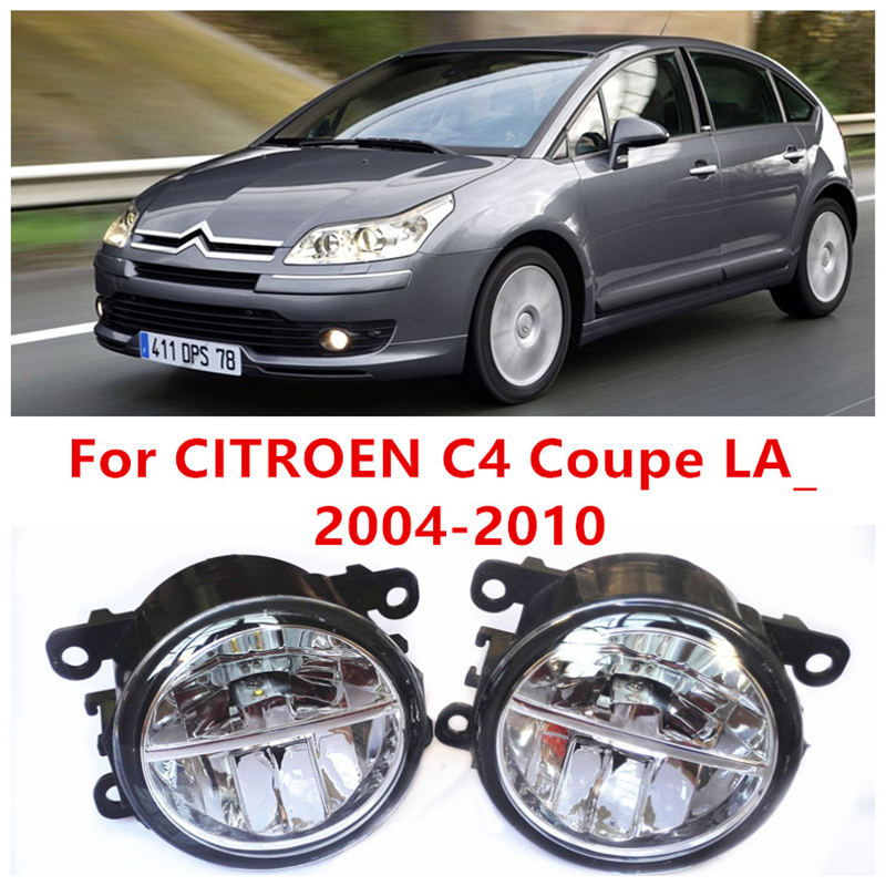For CITROEN C4 Coupe LA_  2004-2010  10W Fog Light LED DRL Daytime Running Lights Car Styling lamps<br>