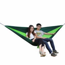 2 People Sleeping Hammock Hamaca Portable Garden Outdoor Camping Travel Furniture Nylon Hammock Sleeping Bed 300kg Loading