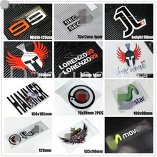 12styles Motor Racing Car Sticker Decals for Jorge 99 Lorenzo Hammer Movistar Rockstar Car Styling Reflective