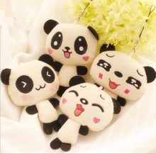 1PC 12cm Kawaii Lover Couple Valentine's Day Gift Novelty Mascot Doll Toy Plush Papa bear Panda Pendant For Mobile Phone Charm