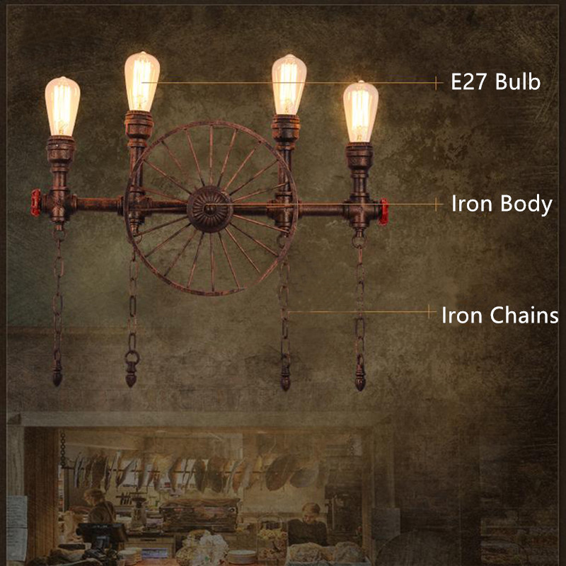 Water Pipe Wall Lamps 14