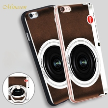 Minason retro digital compact camera Mobile Phone Shell Soft TPU Silicone Case Cover for iPhone X 8 5 SE 5S 6 6S 7 Plus