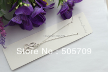 20PCS Bright Silver Color Plated Cobra Pendant Chain Necklaces #22469(China)