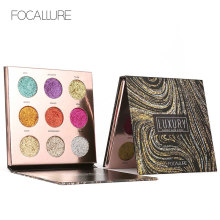 Focallure New Product 9 Colors Eye Shadow Long-lasting Waterproof Makeup Set Easy To Wear Glitter Nature Metallic Eyeshadow FA55(China)