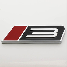 Sosung Car Styling Metal Auto Car ROUSH STAGE 3 Three Emblem Badge Decal Stickers Fit for MUSTANG Red And Black