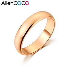 High Polished Ring Super Easy Smooth Surface Wedding Man/Female Rings Fine Jewelry aliancas de casamen to em ouro par
