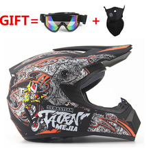 Free shipping Top ABS rmotorcycle  Helmet Classic bicycle MTB DH racing helmet motocross downhill bike helmet Goggle As Gift