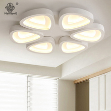 Modern LED Point Ceiling Lights Remote Control Creative Acrylic Lampshade Lighting For Decor Hall Study Bedroom Smart House Lamp(China)
