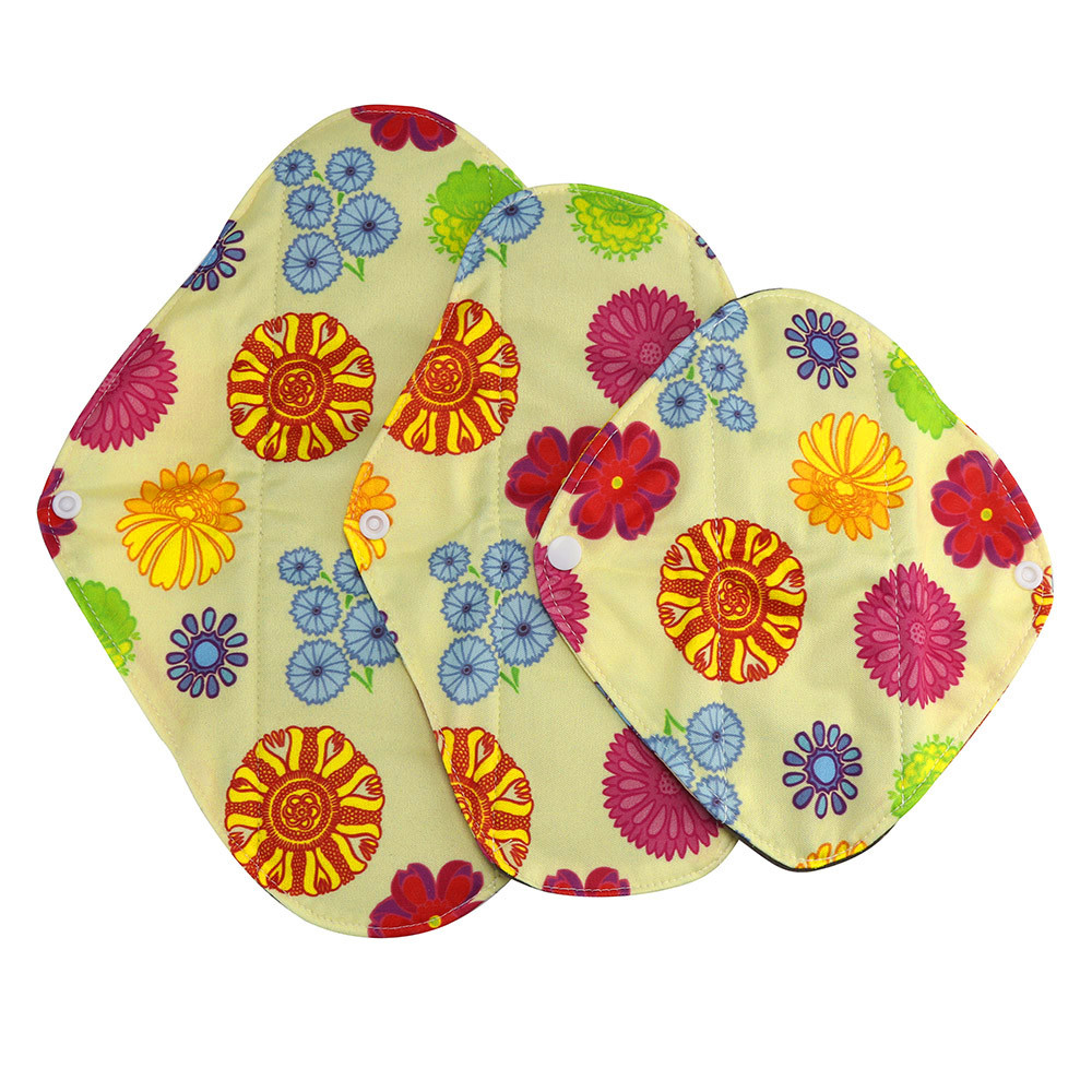 1pc New Arrival Women's Reusable Bamboo Cloth Washable Menstrual Pad Mama Sanitary Towel Pad Pretty Feminine Hygiene Product 21