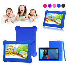 "Reliable Kids Tablet PC 7"" Android 4.4 Case Bundle Dual Camera 1.2Ghz Wi-Fi Bonus Items(China)"