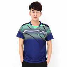 The new badminton clothing badminton shirt summer wicking fast dry-pong Tennis Men sportswear free shipping