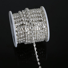 6 Size Sewing Transparent Crystal Rhinestone Chain Sliver Base Cup For DIY Jewelry Craft Apparel Sew On Accessoires(China)