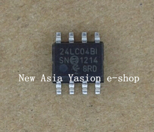 Free shipping 10PCS 24LC04,24LC04B-I/SN,24LC04B,PIC24LC04,SO-8,I2C Serial EEPROM(China)