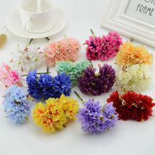 6pcs/lot 3cm Silk artificial chrysanthemum flowers for home Garden wedding wreath decoration Scrapbooking