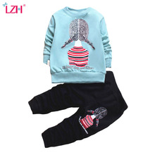 LZH 2017 Winter Baby Girls Clothes Sets Casual T-shirt+Legging 2pcs Outfits Kids Clothes Sport Suit For Girls Children Clothing