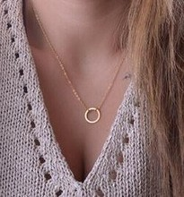 Circle Pendants Necklace Eternity Necklace Karma Infinity Silver Minimalist Jewelry Necklace Dainty Forever Circle Necklace Gift(China)