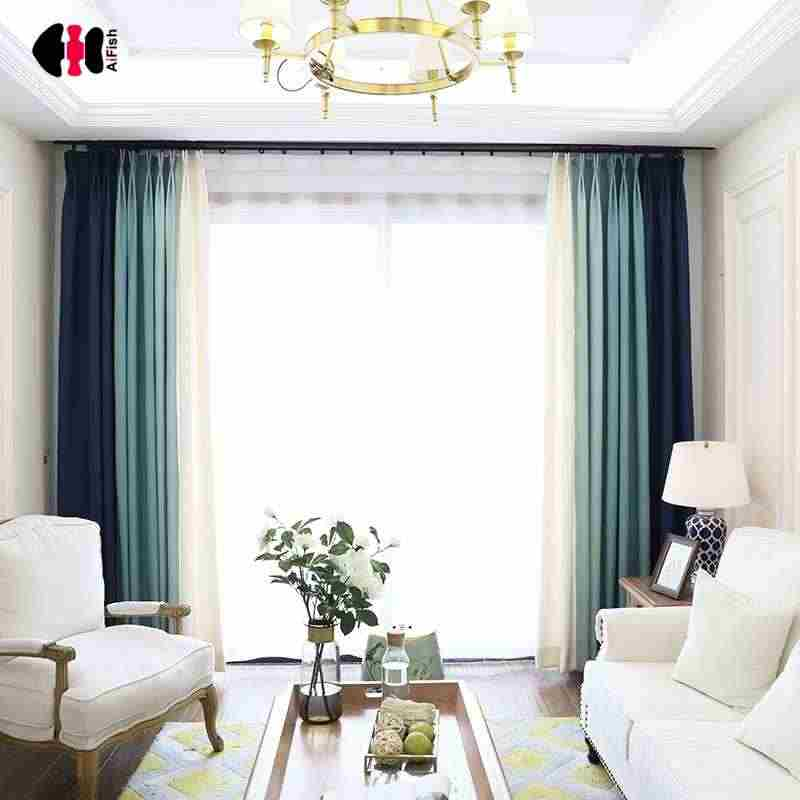 Multicolor Cotton Linen Textile Blackout Velvet Blind Curtain Fabric Solid Color Livingroom Wedding Study Cortinas Panel WP198C