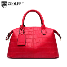 ZOOLER Biggest sale genuine leather woman bag leather handbag Vintage High quality luxury large level up bag bolsa feminina#3606(China)
