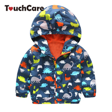 Clearance Fashion Baby Boy Jackets Softshell Hooded Animal Printed Baby Coat Outerwear Kids Spring Autumn Children Clothing(China)
