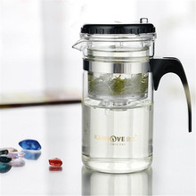 Useful Multi-purpose Glass Tea Pot With Stainless Infuser Heat Resistant Bottle Tea for Blooming Tea Herbal Coffee With Infuser