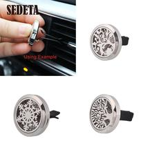 30MM Car Perfume Car Air Vent Freshener Essential Diffuser Car Styling Perfumes Stainless Steel Clip