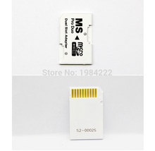 6pcs/lot Micro SD HC to Memory Stick MS Pro Duo Card Dual 2 Slot Adapter for Sony PSP 1000 2000 3000 psp1000 2000 3000(China)