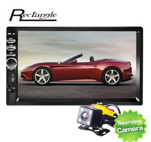 2 Din Touch Screen Car MP5 Player 7 inch Car Audio Stereo Support Bluetooth Hands-free Call USB FM Rear View Camera