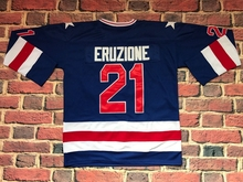 #21 Mike Eruzione 1980 Miracle On Ice Hockey UNSIGNED CUSTOM Jersey BLUE