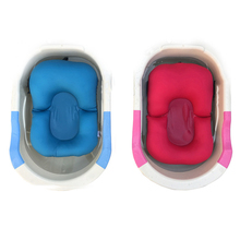 Baby Bathtub Baby Bath Bloom Neworn Bathing Pad Mat Infant Safety Security Bath Seat Support Shower folding seat(China)