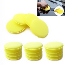 12PCS Car Washing Compress Sponge Waxing Pads Polish Concentrated Multi Holes Foam Pads Special for Automobile Vehicle Cleaning(China)