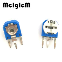 F017-13  50PCS RM063-105 vertical 1M ohm (blue white) blue and white can be adjusted resistance / potentiometer WH06-1
