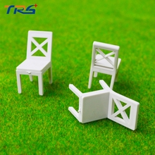1/25 sand table model building model dinner chair white plastic model miniature furniture(China)