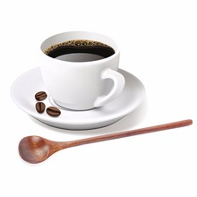 8 inch Olive Wood Round Head Soup & Cooking Spoon Kitchen Utensils Coffee Spoon