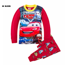 Easter Gift Cotton Spring Cartoon Car Clothing Set Long Sleeve Sleepwear Pajamas Boy Sports Suit Red Tracksuit Kids Clothes